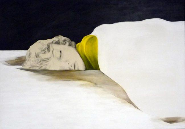 Acrylmalerei in Kombination mit Grafitzeichnung